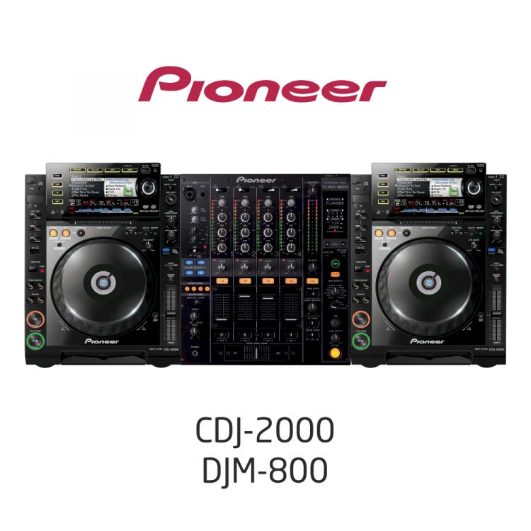 Комплект Dj оборудования /CDJ2000, DJM800/