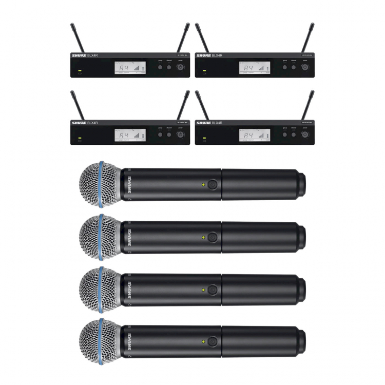 SHURE BLX4R (rack 4 in 1)