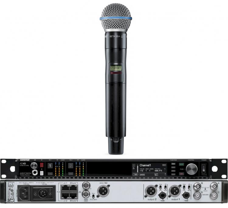 SHURE AXIENT DIGITAL AD4D 470-636 MHZ / AD2 BETA 58A