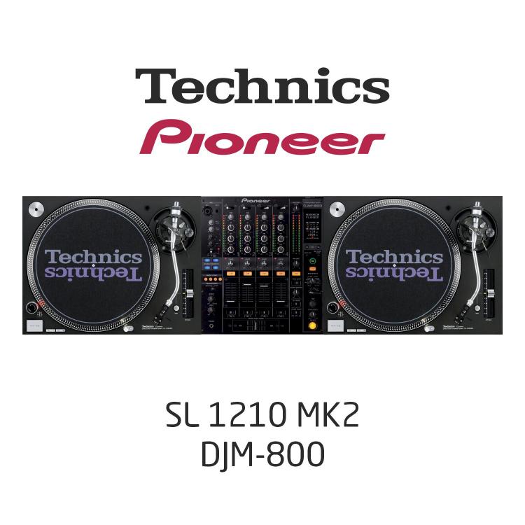 Комплект Dj /SL1210MK2, DJM800/